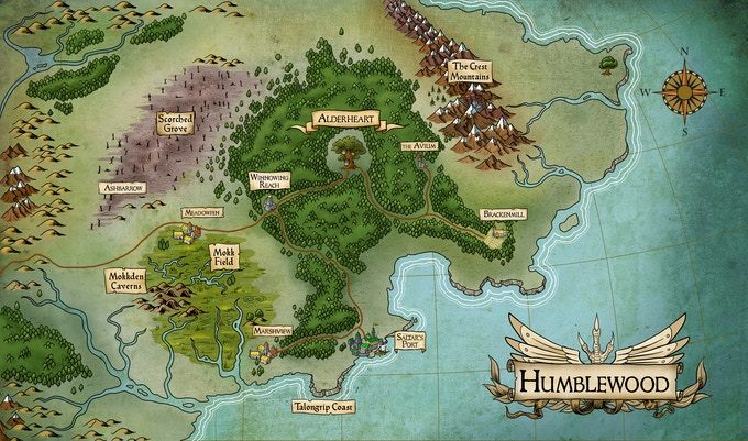 Humblewood Campaign Setting for 5e DND by Hit Point Press