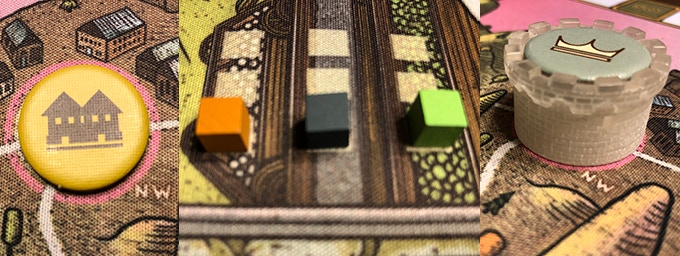 Components on 20% larger neoprene mat. NOTE: Castles come painted.