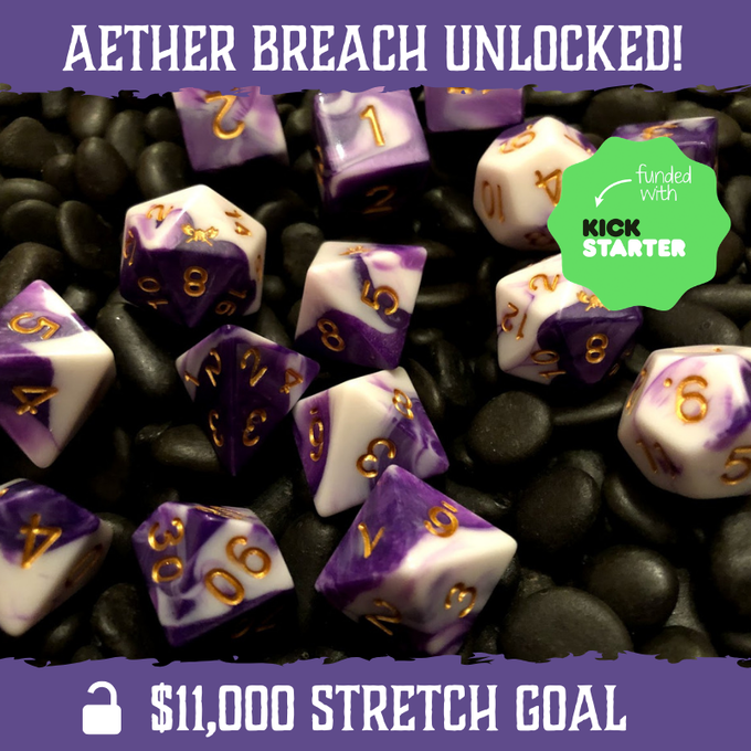 Aether Breach - Dark Purple and White with Gold Numbering