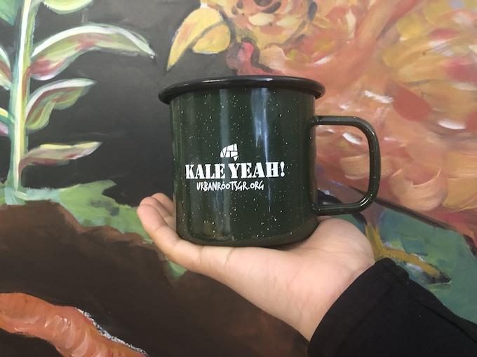 Kale Yeah! enamel mug