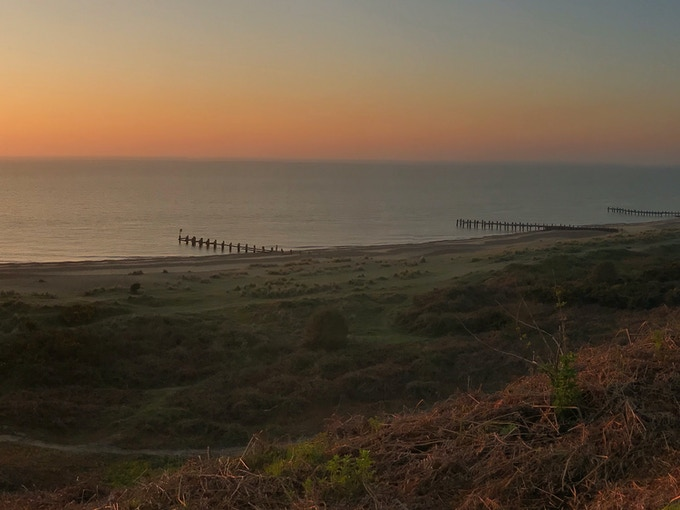 Sunrise at Gunton Warren Nature Reserve, Lowestoft