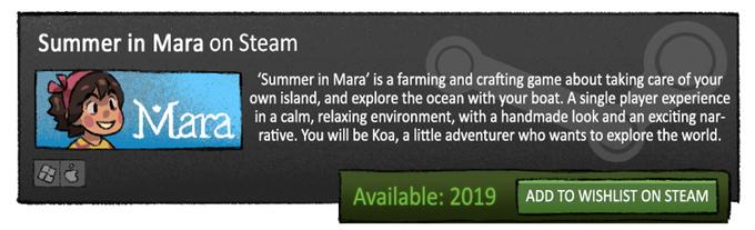 Summer in Mara - An adventure set in a tropical ocean by