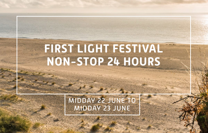 Photo of South Lowestoft Beach to advertise First Light Festival (image sourced from Festival website)