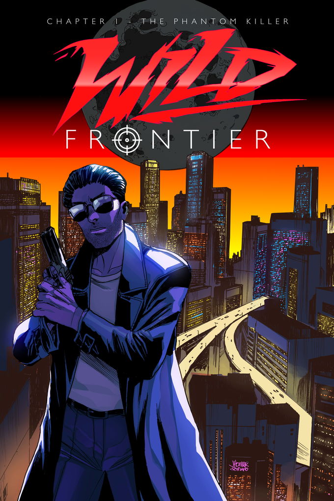 Agent Sykes on the front cover of Wild Frontier Chapter 1