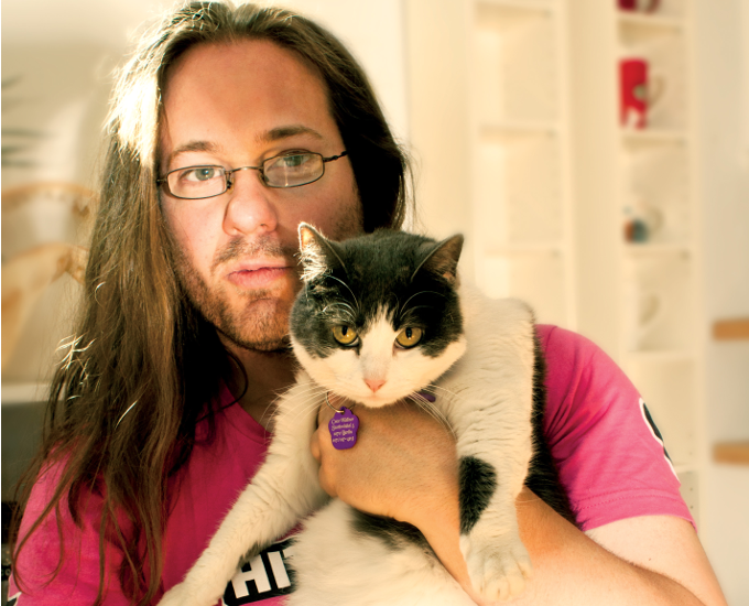 Will Wallner with his cat 'CoCo'