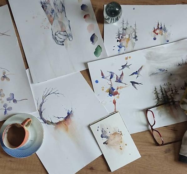 Originalerne af udvalgte skitser, sælges som en del af crowdfunding-kampagnen her på siden.