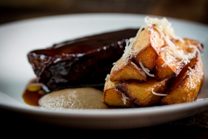 Braised Featherblade of Beef, Parmesan & Truffle Chips