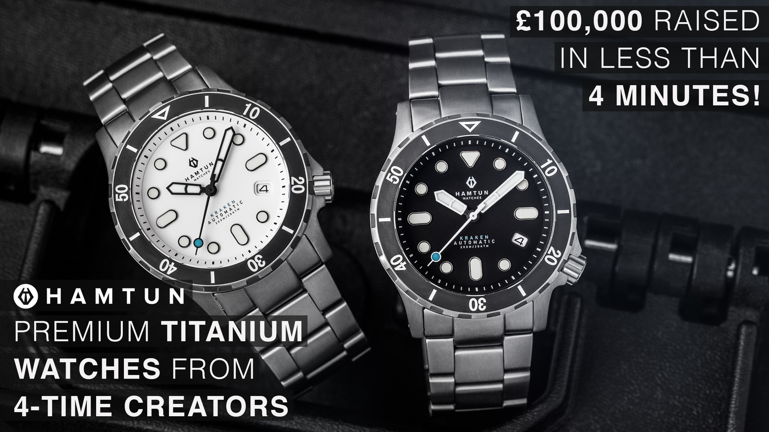 High-end, scratch-resistant automatic dive watches at incredible prices. Hamtun's 4th watch is designed to impress & built to last.