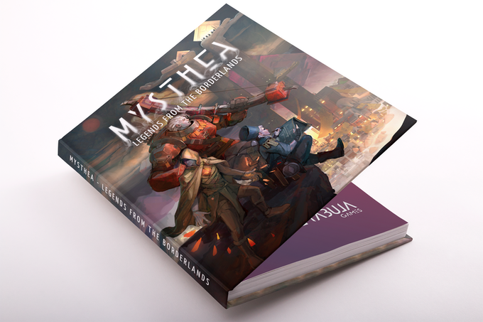 Mockup of the hardback book