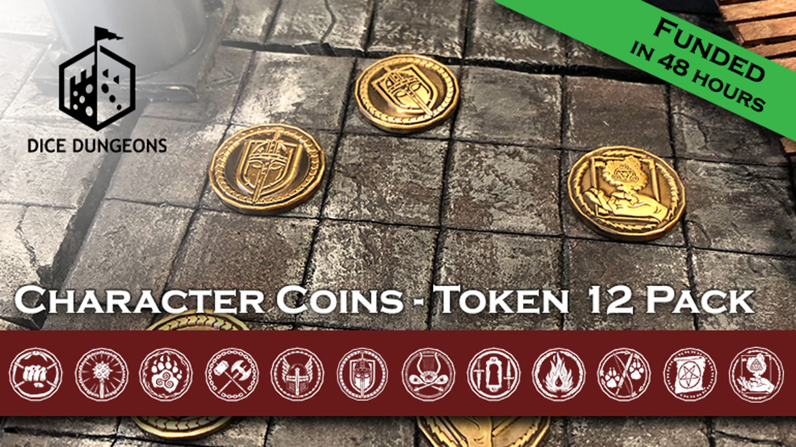 Coins and miniatures all-in-one! Track characters and monsters in your table top games with these distinctive engraved tokens.