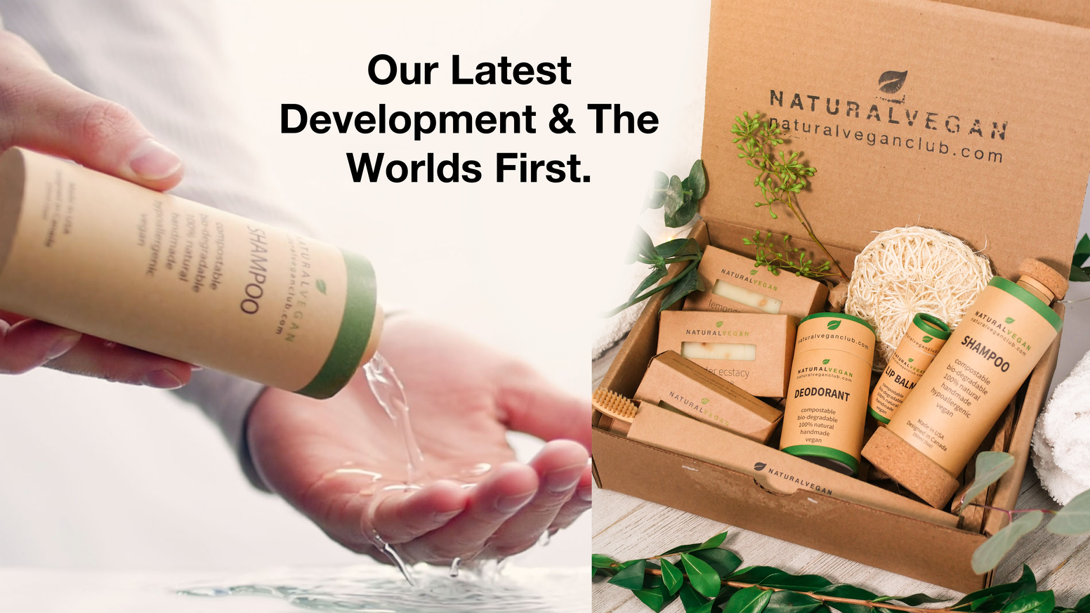 Worlds purest food-grade skincare brand with incredible reviews makes worlds first compostable bottle to end plastic pollution