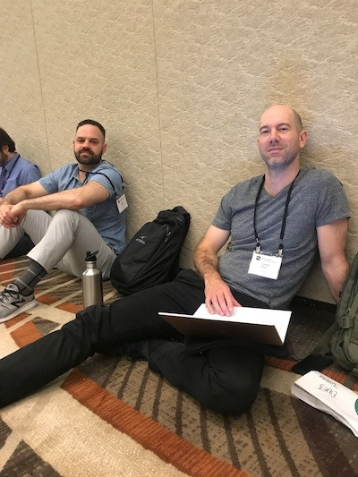 Sludge's Alex and Donny at the Investigative Reporters and Editors conference, 2018