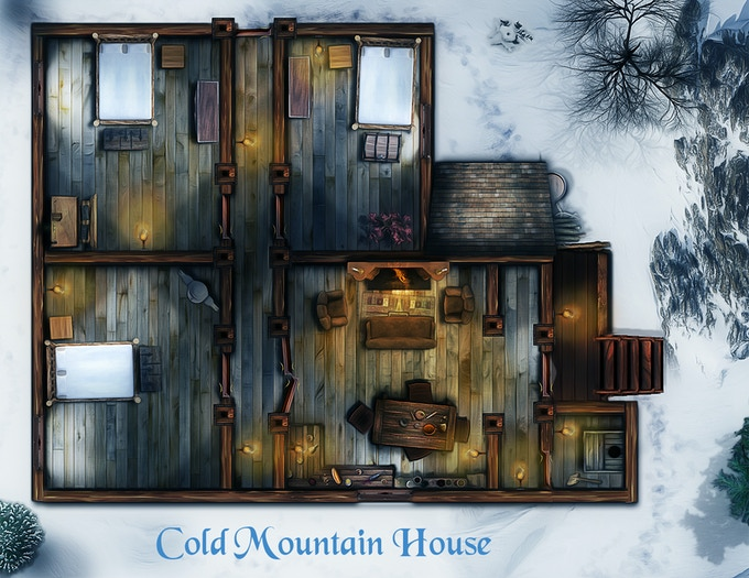 Cold mountain house a simple basic but new house set in a cold mountain setting