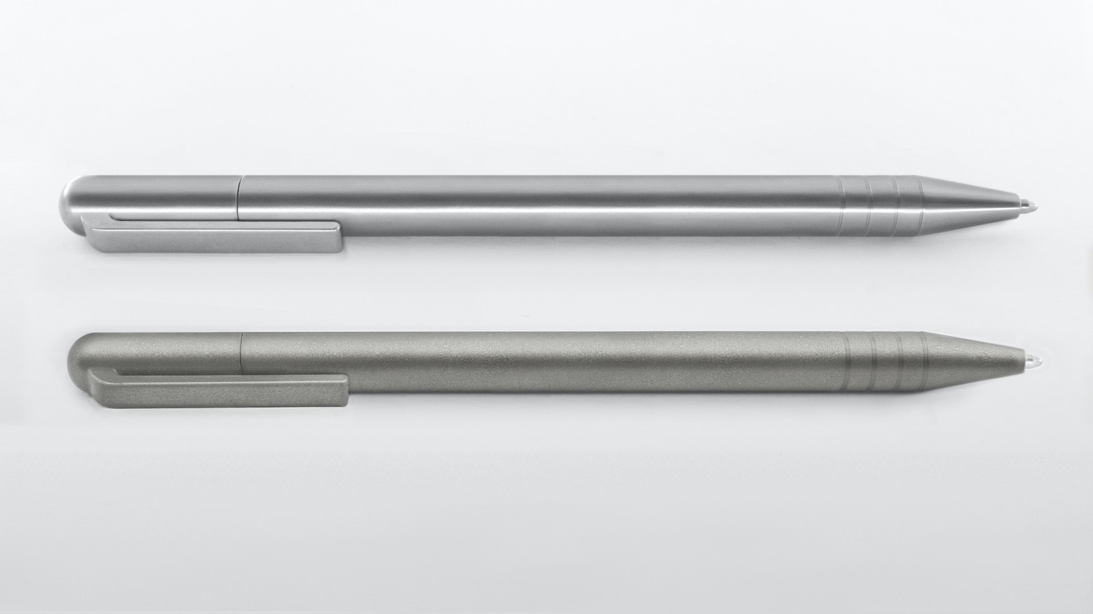 A Titanium Twist & Write Pen. Uses Space Pen & Other Refills. FREE OPTIONS:  Colors & Grooves.