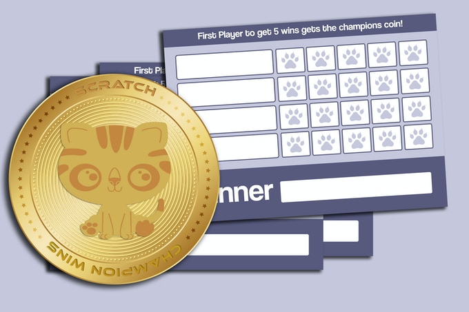 52 Game Night Score Cards & Large Size Gold Metal Champions Coin to play for (Kickstarter Exclusive)