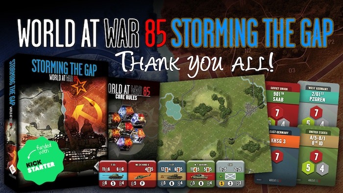 Missed the Kickstarter, not a problem. You can still order the Storming the Gap base game, the available stretch goals via the WaW85 Expansion Pack, the Solo Assistant module and a whole lot more directly from LnLP.
