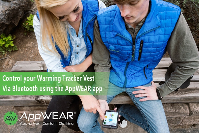 Connect with your AppWEAR vest with your mobile device.