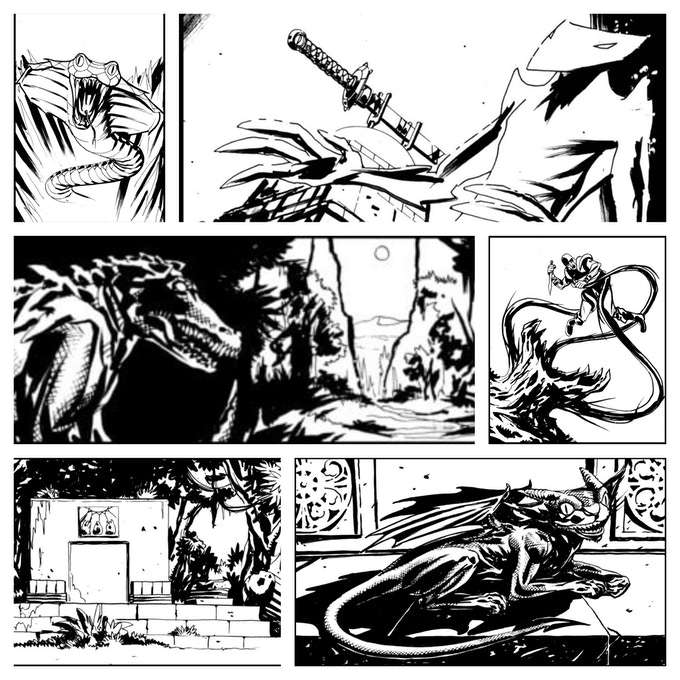 Lonny Chant's Artwork from Sword in the Jungle Deep
