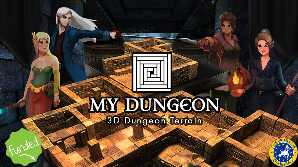 MY DUNGEON - 3D Dungeon Terrain project video thumbnail