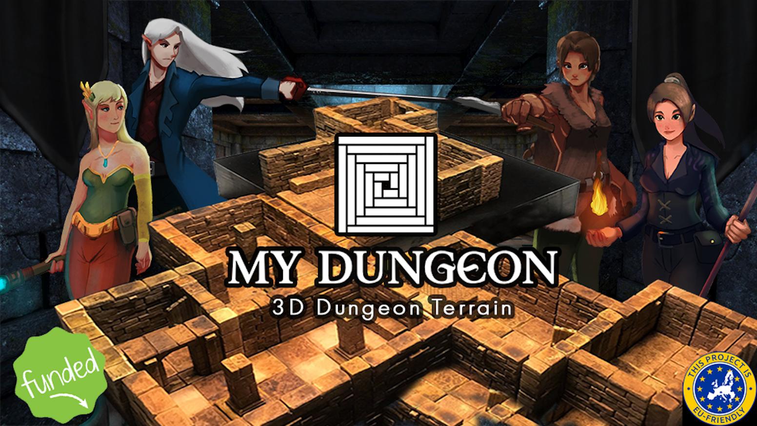 My Dungeon 3d Dungeon Terrain By Jose Moscoso Kickstarter