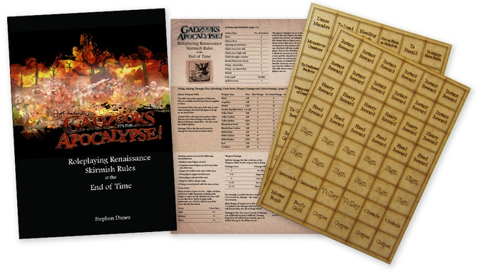 Rulebook, QRS and mdf laser-cut counters