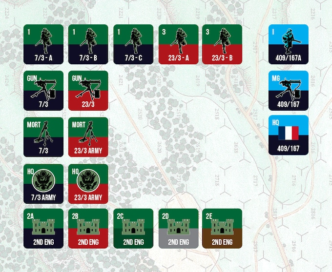 American Army and French Army Counters