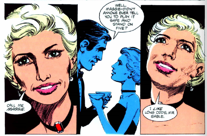 When Sable met Maggie! Maggie's first appearance  in Jon Sable Freelance #11