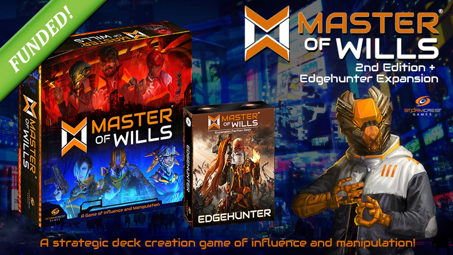 A new expansion for Master of Wills: A board game of influence and manipulation. Introducing the 2nd edition base game for new players.