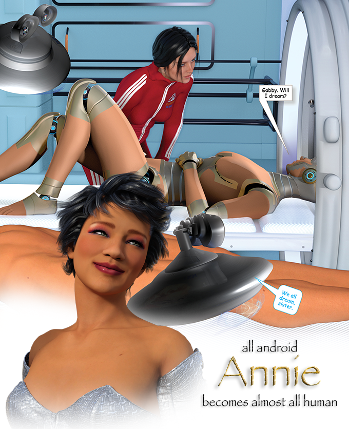 Scene where Annie's memories and personality are transferred into and EVE body. Headshot is from a following scene.