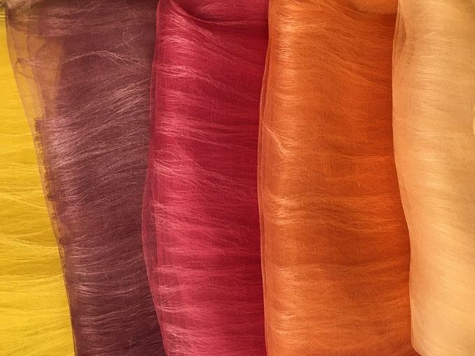 100 % Natural-dye color exemple from Meito Design Work  (Tokyo)