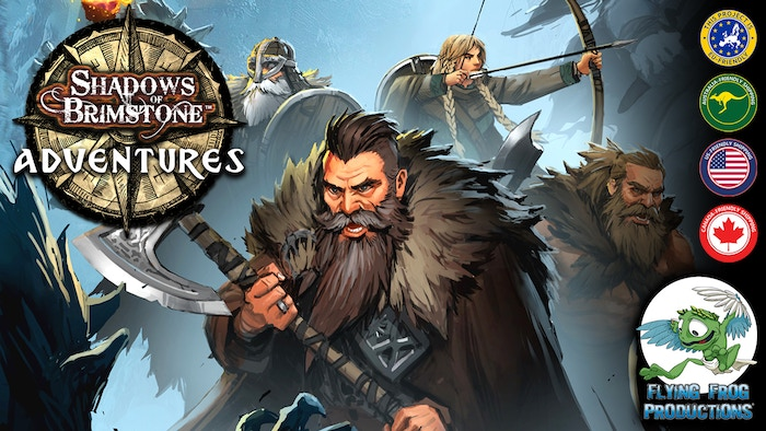 """Two new Shadows of Brimstone Adventure Sets: """"Gates of Valhalla"""" and """"Valley of the Serpent Kings"""" Cooperative dungeoncrawl boardgames!"""