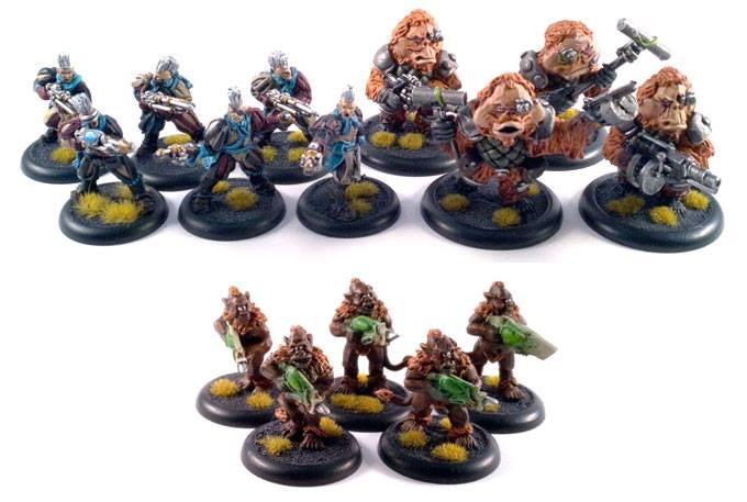 the mercenarie set, 6 space elfs, 5 cyclops and 4 ooks