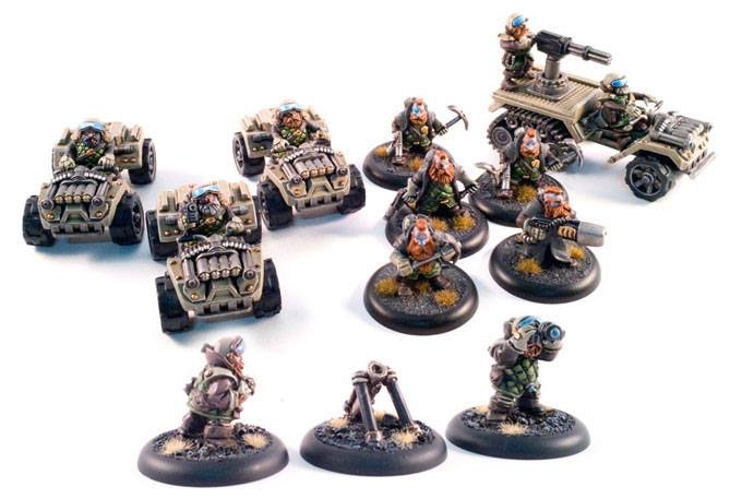 the mobile force war band, 3 buggies, 1 war track, 5 special operations, 1 mortar.