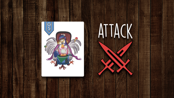 Magic chickens can be played on your opponents' rows blocking them from winning or forcing them to drop followers