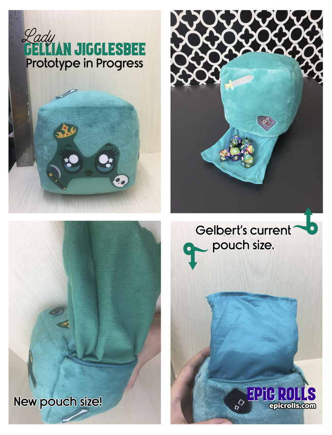 The Lady Gellian Jigglesbee prototype in progress features the larger pouch size!