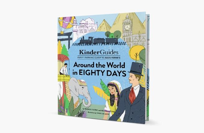 Around the World in Eighty Days - illustrated by Nikko de Leon
