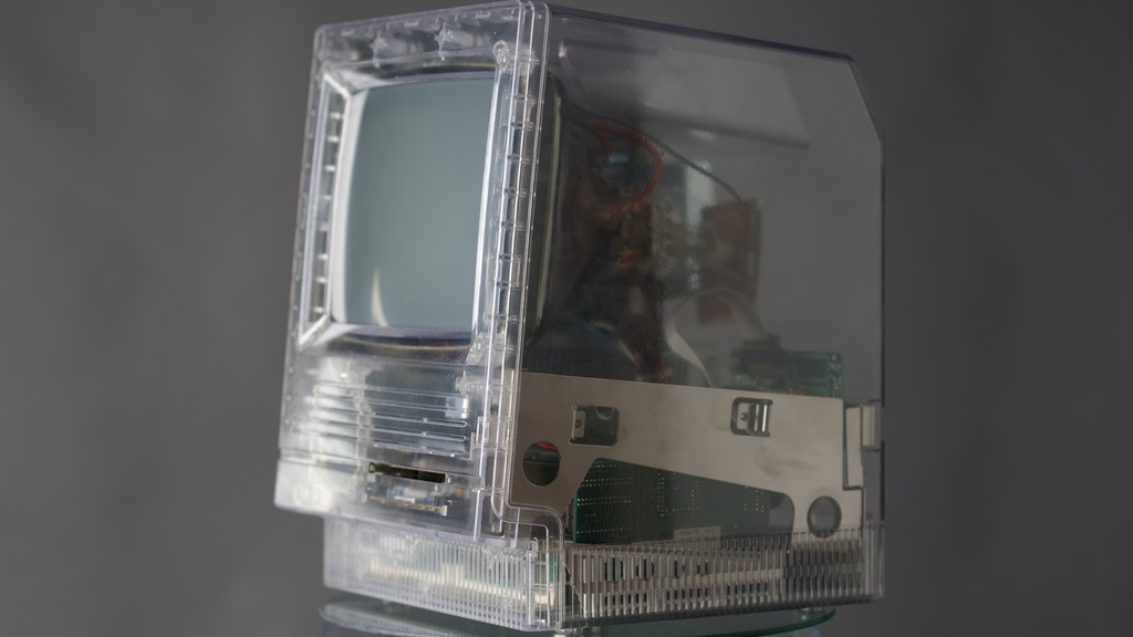 Injection Molded Clear Case for Apple Macintosh Mac SE/30