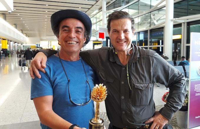 With Claudio Von Planta - my filmmaker partner for over 20 years.