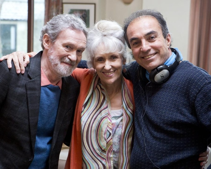 With Anita Dobson and Paul Copley on the set of A Special Guest.