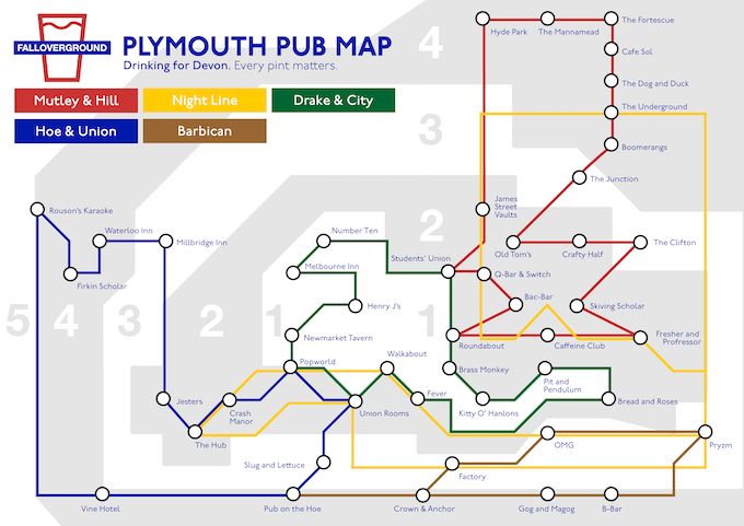 The Plymouth Falloverground Map.