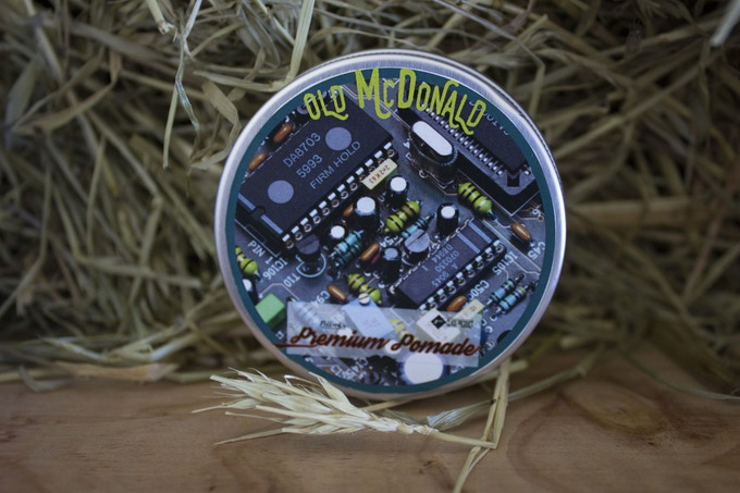 Personalised pomade product (example)
