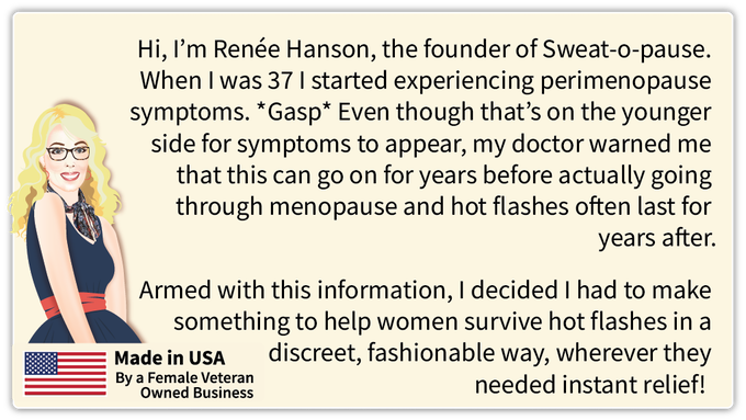 Renee Hanson, Founder Sweat-O-Pause
