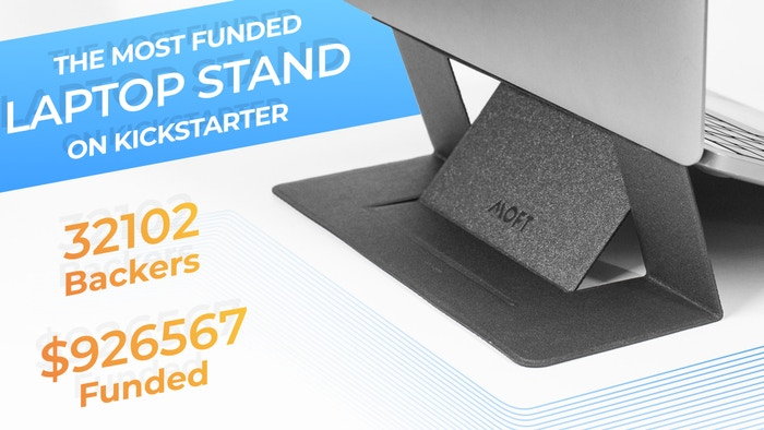 An adhesive laptop stand makes you move freely and enjoy ergonomic comfort anywhere