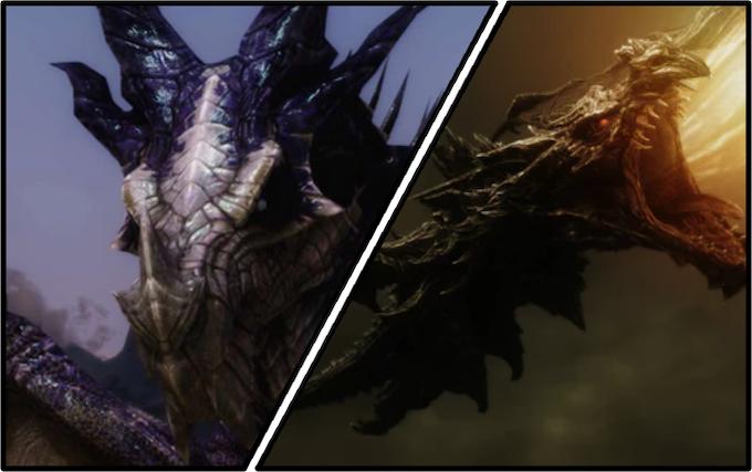 Dragons from Elder Scrolls: Skyrim - Designed by Jonah Lobe