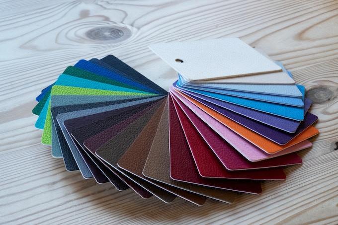 Leatherette (faux leather) colour options