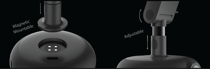 VEZO 360 - The First 4K 360˚ Smart Dash Cam adjustable magnetic mount