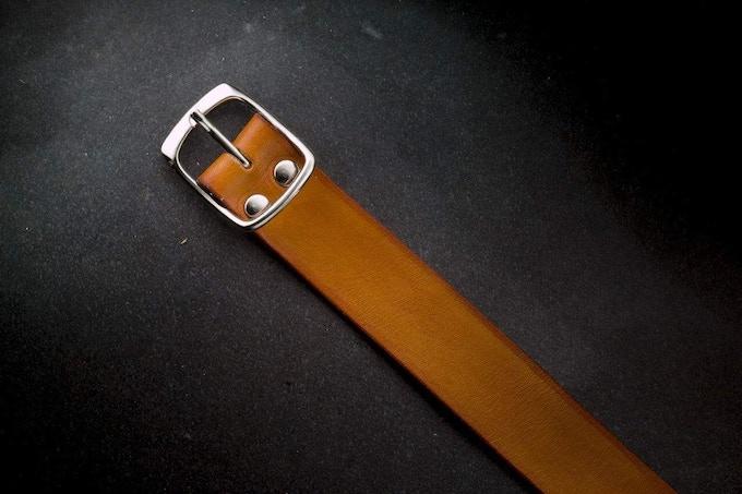 Bracelet Nato Cuir Caramel