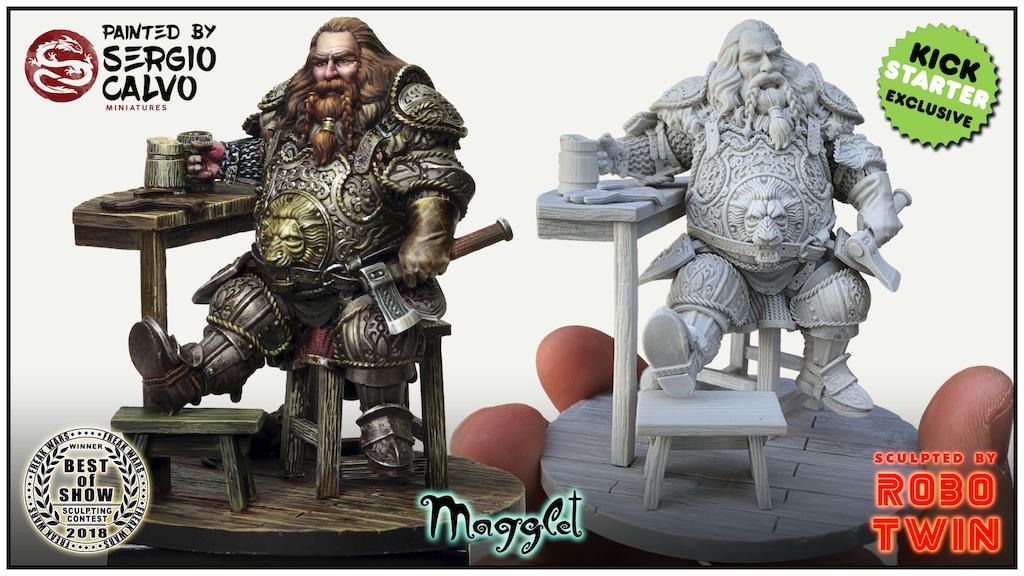 MIRROR DELTOR (75mm Fantasy Dwarf Miniature) project video thumbnail