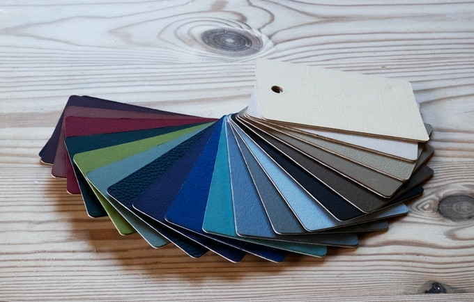 Leather cover colour options