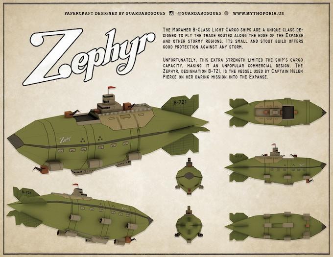 Zephyr Papercraft Model designed by Guardadobosque.